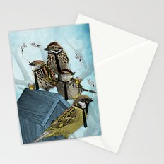 Smoking Birds Print Stationery Cards
