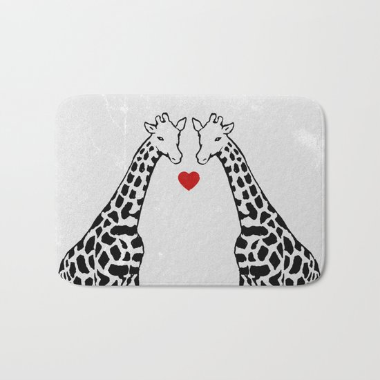 Giraffe Love Bath Mat