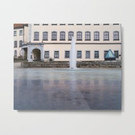 Castle fountain Metal Print