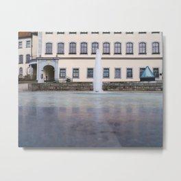 Castle fountain Metal Print
