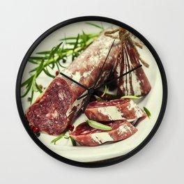 Italian salami Wall Clock