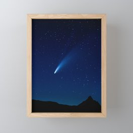 Neowise Comet Framed Mini Art Print