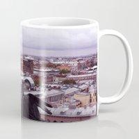 cityscape Mugs featuring cityscape by Gayana Manukova
