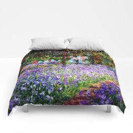 """Claude Monet """"Irises in Monet's Garden at Giverny"""", 1900 Comforters"""