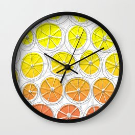 Red Lemonade Wall Clock