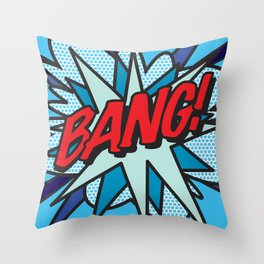 Comic Book Pop Art BANG! Throw Pillow