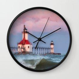 St. Joseph Michigan Lighthouse 01 Wall Clock