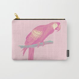 Pink Parot Carry-All Pouch