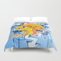 bucky Duvet Covers featuring Bucky & Ace by Paz Art