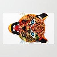 jaguar Area & Throw Rugs featuring jaguar by Alvaro Tapia Hidalgo