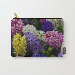 Colorful Hyacinth Blossoms Growing Together in a Garden in Amsterdam, Netherlands Carry-All Pouch