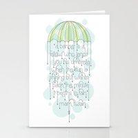 umbrella Stationery Cards featuring Umbrella by Jude Landry