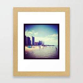 North Shore Chicago  Framed Art Print