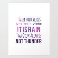 Rain Not Thunder - Inverted Art Print