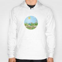 denmark Hoodies featuring Landscape of Denmark by Design4u Studio