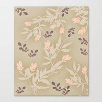 vintage flowers Canvas Prints featuring vintage flowers by Julia Tomova