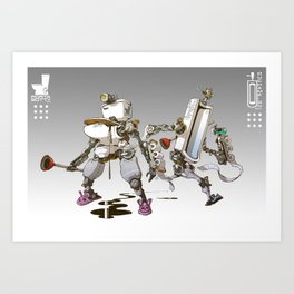 Toiletbots Art Print