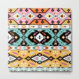 Boho Navajo Geometric Var. 13 Metal Print