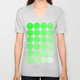 Green Circle Color Chart Unisex V-Neck