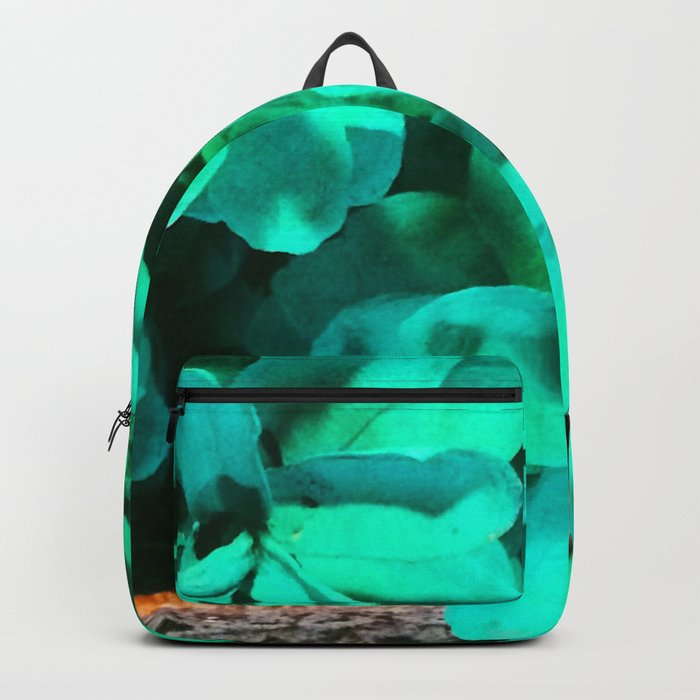 Green Pinecone Roses Backpack