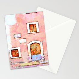 Camerata Nuova: door and windows on the pink wall Stationery Cards