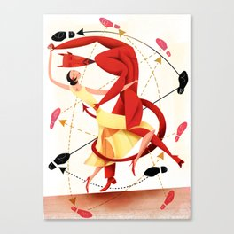 Valentine Dance Macabre Tango Canvas Print