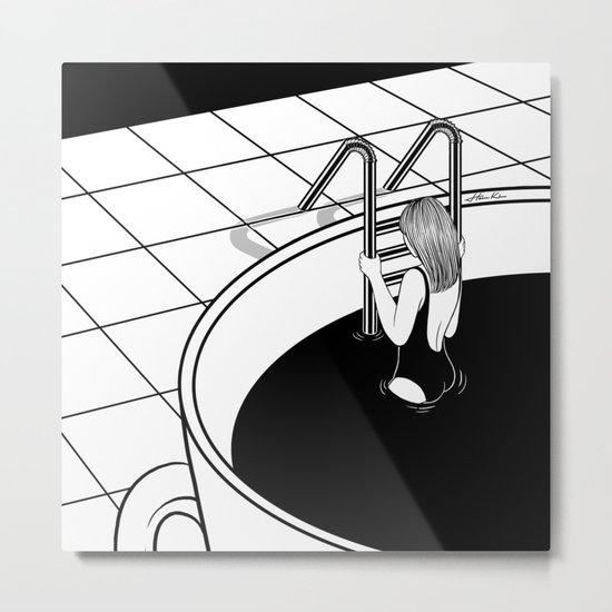 Morning Swim Metal Print