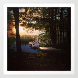 Lake Durant Kayak Art Print
