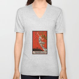 May Day Russian Revolution Poster Unisex V-Neck