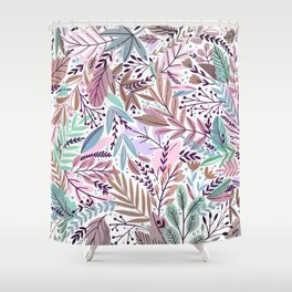 Modern abstract blush tones floral illustration Shower Curtain