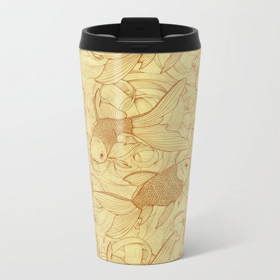 Vintage Goldfishes II Metal Travel Mug