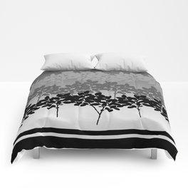 Hombre Sprigs Black Grey Comforters