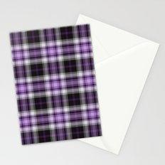 Purple Plaid Stationery Cards