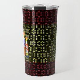 digital Flag (spain) Travel Mug
