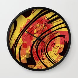 Her Plastered Insouciance  Wall Clock