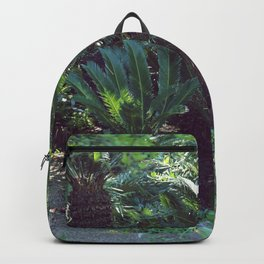 Vintage garden with exotic palm Backpack
