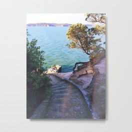 Point Chev Metal Print