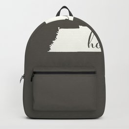 Tennessee is Home - White on Charcoal Backpack