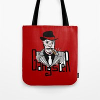 gangster Tote Bags featuring Gangster by Logan_J