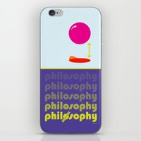philosophy iPhone & iPod Skins featuring [UN] DISCIPLINE: PHILOSOPHY by THEK'art