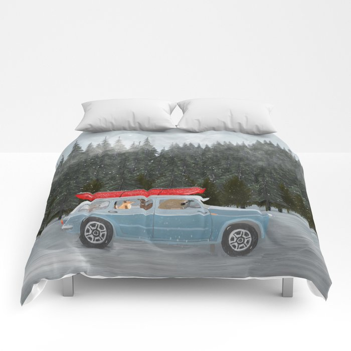 winter holiday Comforters