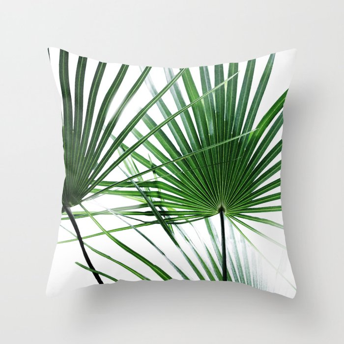 Palm Leaves 12 Throw Pillow