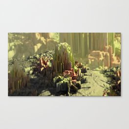 Crystal formation mountain landscape Canvas Print