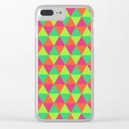 Triangular Pattern Clear iPhone Case