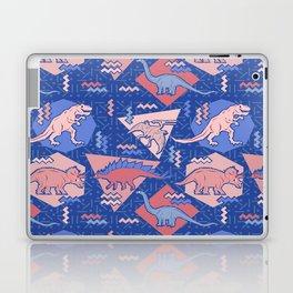 Nineties Dinosaurs Pattern  - Rose Quartz and Serenity version Laptop & iPad Skin