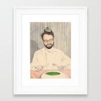 tom selleck Framed Art Prints featuring Tom by irshi