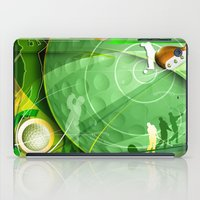 golf iPad Cases featuring Golf Anyone? by Robin Curtiss