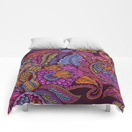 Paisley Dreams - sunset colors Comforters