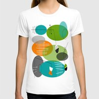 mid century modern T-shirts featuring Mid-Century Modern Atomic Ovals by Kippygirl