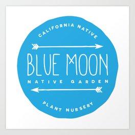 Blue Moon Native Garden Art Print